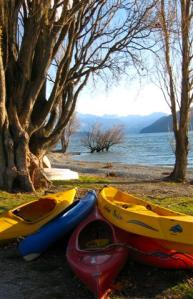 Kayaks at Wanaka