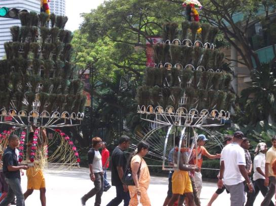 procession during thaipusam