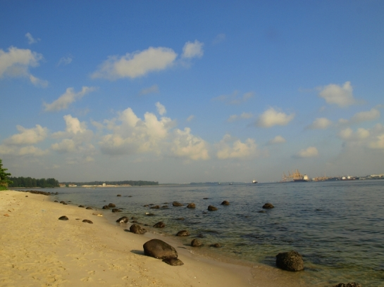Left side view of Punggol Beach